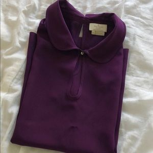 Kate Spade purple plum blouse Peter Pan collar